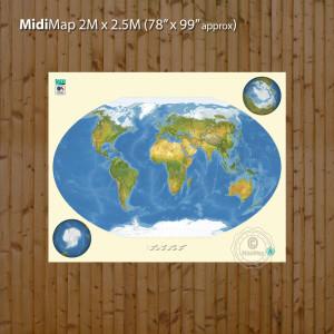 Midi world with borders settlements